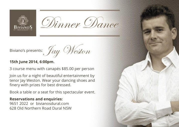 Jay Weston Dinner Dance